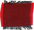 Crimson and black Thai silk - 100% pure, smooth, soft, two tone & hand woven!