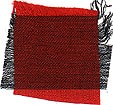Black and fire engine red Thai silk - 100% pure, smooth, soft, iridescent, two-tone and hand woven!