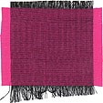 Black and magenta Thai silk - 100% pure, smooth, soft, two tone & hand woven!